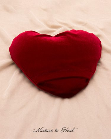 The Heart backside Nurture to Heal Therapeutic Pillows